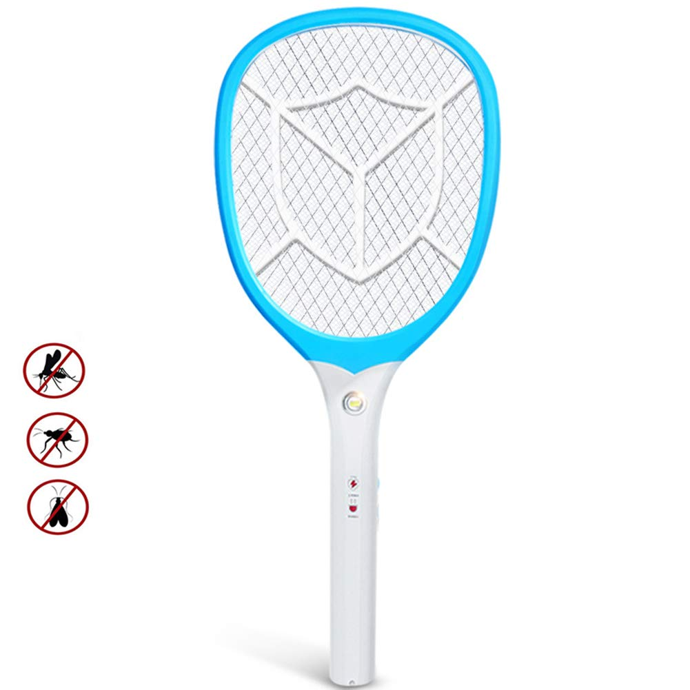 Electric Mosquito Killer, USB Rechargeable Insect Kill Tennis Racket, Built-in Flashlight, Mosquito Fly swatter, pest Insect Control Killer Mosquito Repellent