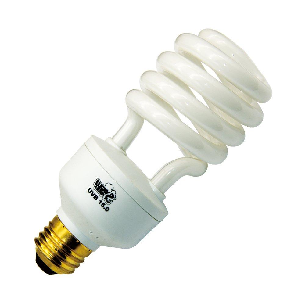 LUCKY HERP Desert UVA UVB Reptile Light Bulb 5.0 10.0 Compact Fluorescent Lamp