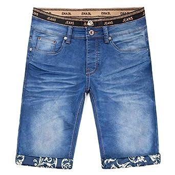 Nikdook Pantalones Cortos Vaqueros para Hombre con Pantalones de Mezclilla Elástico Regular-Fit Estilo Casual Pantalón Corto de Moda