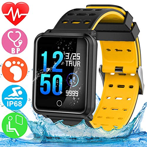 - GBD Smart Watch Sport Activity Fitness Tracker with Heart Rate Blood Pressure Sleep Monitor Pedometer Outdoor Waterproof Wrist Watch Wristband Birthday Gifts for Men Famle Women Him