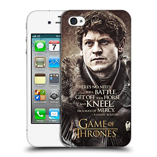 Official HBO Game Of Thrones Ramsay Bolton Character Quotes Hard Back Case for Apple iPhone 4 / 4S