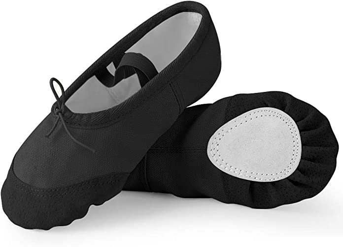 Girls Ballet Shoes Canvas Yoga Gymnastic Dance Split Sole Kids Children/'s Sizes
