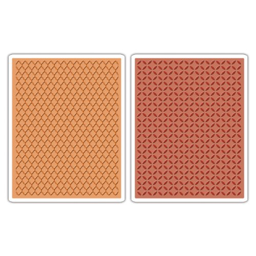 Sizzix Courtyard/Trellis Textured Fades Embossing by Sizzix