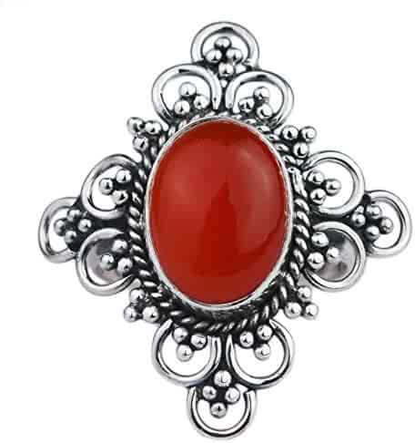 natural gemstone carnelian 925 Sterling Silver earrings 3.24g Jewelry crystalcraftindia