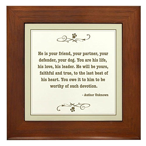 CafePress Your Friend Framed Tile, Decorative Tile Wall Hanging