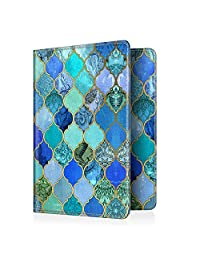 Fintie Passport Holder Travel Wallet - Premium Vegan Leather RFID Blocking Case Cover - Securely Holds Passport, Business Cards, Credit Cards, Boarding Passes, Cool Jade