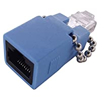 Shaxon Ethernet Rollover Adapter RJ48C Jack to RJ45 Male, Blue (MARFM-LB-B)
