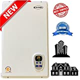 Tankless Gas Water Heater Excel Pro NATURAL GAS 6.6 GPM Whole House and for Hydronic heating Compare to Rinnai, Rheem ,Noritz, Bosch FREE FLUE KIT