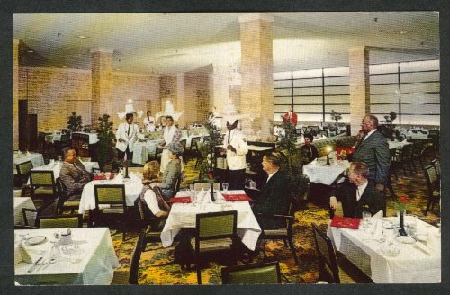 Dining Room at French Lick Sheraton Hotel IN postcard 1960s