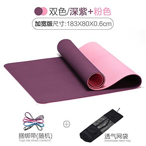 YOOMAT Herren TPE Gymnastikmatte Mädchen Indoor Outdoor Training Pad Portable 2-seitig Texturierte Rutschfeste Yogamatte 61520