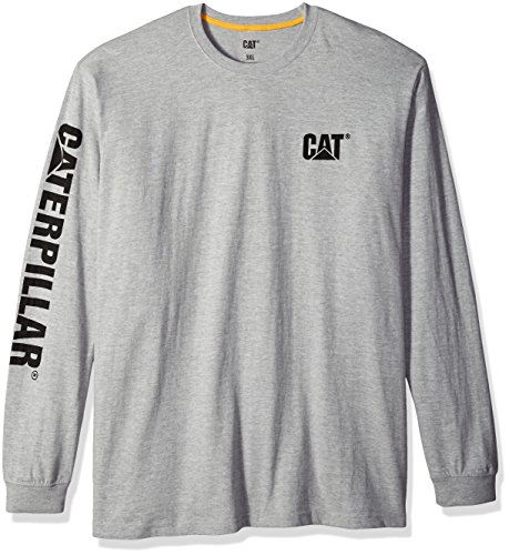 - Caterpillar Men's Big and Tall Trademark Banner Long Sleeve Tee, Heather Grey, Large Tall
