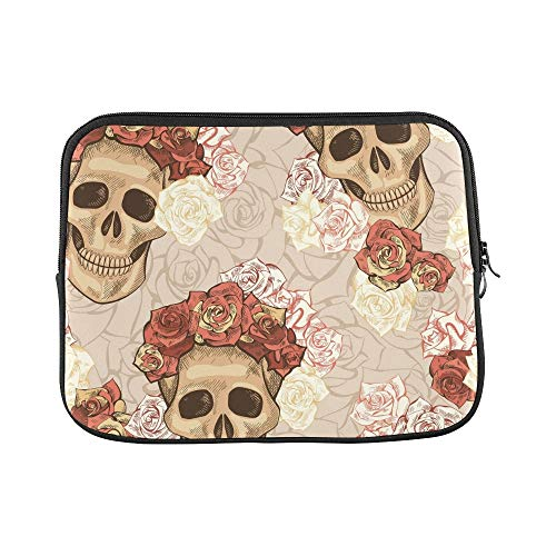 Design Custom Hand Drawn Day Dead Sleeve Soft Laptop Case Bag Pouch Skin for Air 11