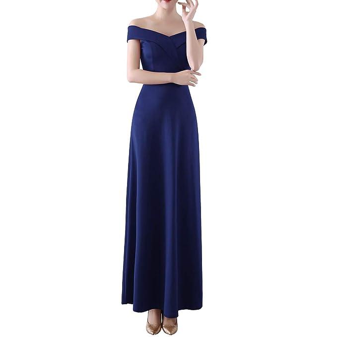 DISSA D1328 - Vestido de cóctel sin Mangas para Mujer, Color ...
