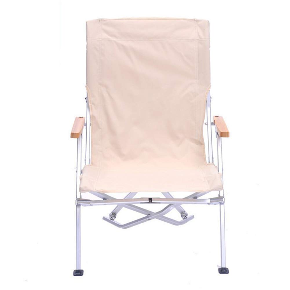 Outdoor Folding Chair Fishing Chair Camping Chair Leisure Chair-Beige