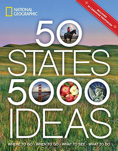 50 States, 5,000 Ideas: Where to Go, When to Go, What to See, What to Do (Men Birthday Gift Ideas)