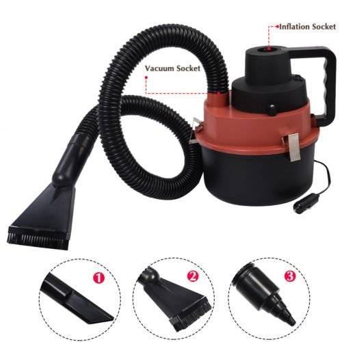 Portable Powerful Mini Auto Car Vacuum Cleaner Wet/Dry DC 12 Volt Red New