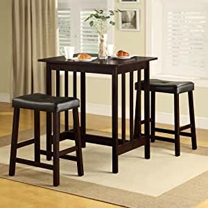 Tribecca home nova 3 piece kitchen counter for B m dining room furniture