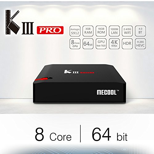 KIII PRO S912 Mini PC K3 Pro Android 7.1 S912 Octa-core 3GB / 16GB with Satellite receiver S2 /T2 /C- HD 4K Videorecorder