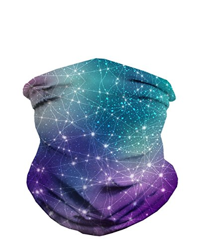 iHeartRaves Constellations Galaxy Seamless Mask Bandana]()