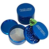 Jumbo Santa Cruz Shredder Blue Aluminum 4 Piece Grinder + Custom Pollen Pick Bundle