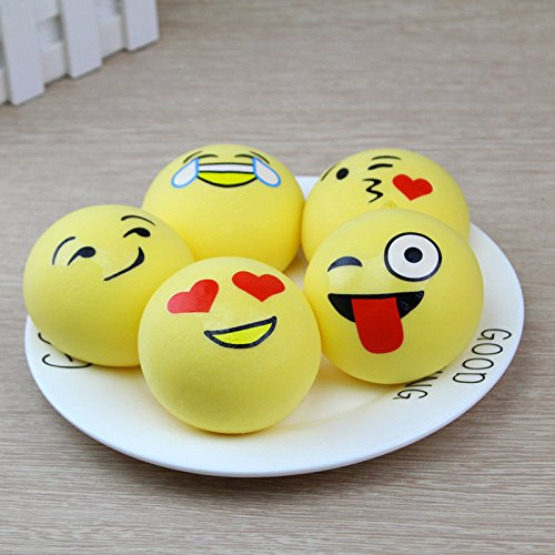 Slow Squishies Rising,ASDOMO 4CM Kawaii Mini Soft Squishy Foods Simulation PU Slow Rebound Coarse Grain Bread Kids Toy Gift Random 1PCS