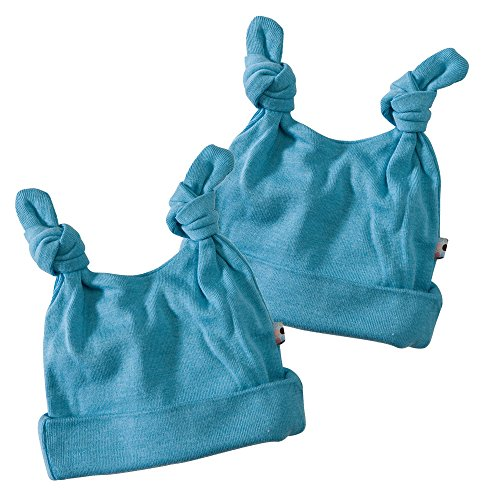Babysoy Double Knot Hat- 2 Pack, Ocean, 12-24 Months