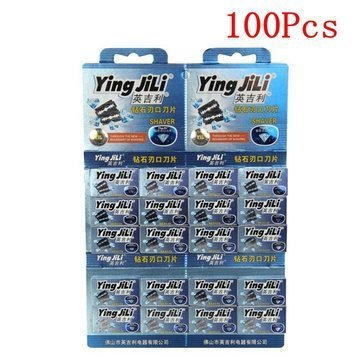100pcs-yingjili-rf-2298-double-edge-razor-blade-shaver-blades-stainless-steel-by-completestore