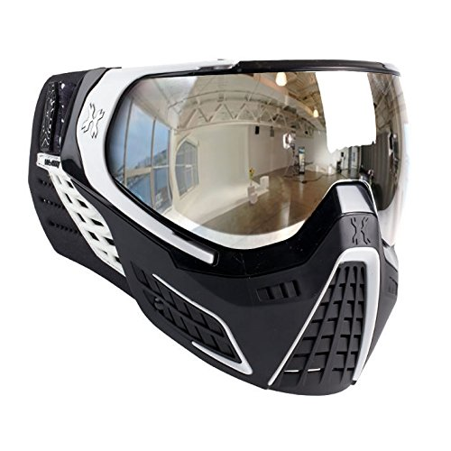 (HK Army Paintball KLR Thermal Anti-Fog Mask / Goggles (Carbon (Black/White - Chrome)