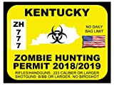 Kentucky Zombie Hunting Permit(Bumper Sticker)