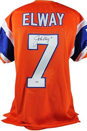 ea1929cac John Elway Signed Jersey - Orange Crush - PSA DNA Certified - Autographed  NFL Jerseys