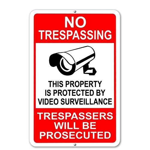 Property Protected By Video Surveillance Warning Security Ca