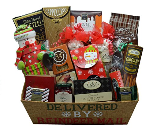 Sweet Treats Delivered by Reindeer Christmas Gift Basket (Large)