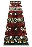 Champion Rugs Southwest Native American Area Rug Carpet Burgundy (2 Feet X 7 Feet Runner)
