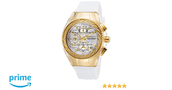 Amazon.com: Technomarine TM-115384 Womens Cruise Glitz Quartz Gold Chronograph: Watches