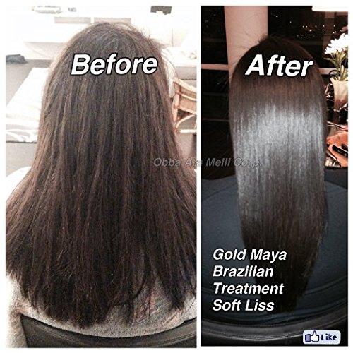 Keratin Brazilian Treatment kit 32oz Gold Maya Soft Liss ''Keratina Baño de Oro'' Hair Treatment Formaldehyde Free