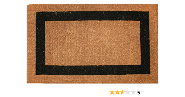 Amazon Com Imports Decor Printed Coir Doormat Classic Single Black Border 36 Inch By 60 Inch Classic Welcome Mat Garden Outdoor