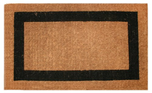 Imports Decor Printed Coir Doormat, Black Border, 22-Inch by - Traditional Coir Mat