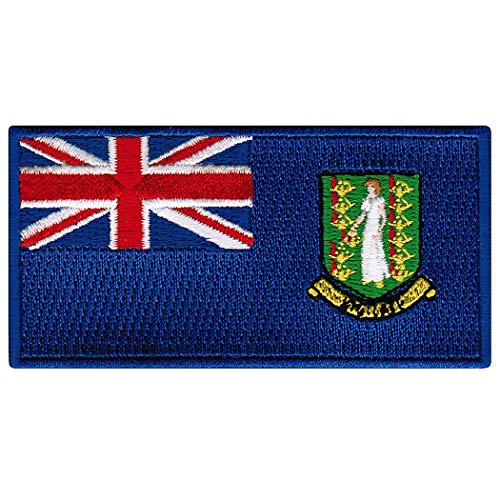 British Virgin Islands Flag Embroidered Patch Iron-On Caribbean National Emblem ()