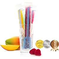 Cherub Baby Reusable Freeze n Squeeze Ice Pop Pouch with Collapsible Funnel, 20 Piece