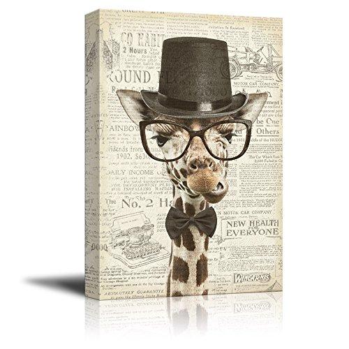 Creative Animal Figure on Vintage Paper Mr Giraffe Gallery