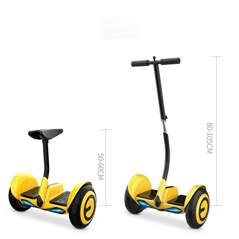 大人の子供のためのハンドレバーを備えた電動バランスカー2019新しい10インチの思考スクータースクーター二輪電動スクーター、ブラシレスモーター付きLED 青tooth音楽APP