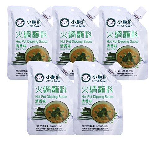 小肥羊 Little Sheep Hot Pot Dipping Sauce 110g (Pack of 5) (Hot Pot Sauces)