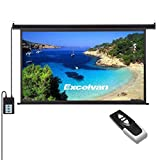 Auto Projector Screen with Remote Control, Excelvan Portable 120 Inch 16:9 1.2 Gain Wall Ceiling Electric Motorized HD 4K Indoor Outdoor Projector Screen for Family Home Theater and Office