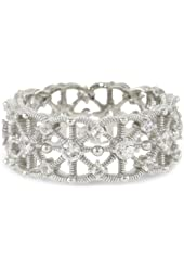 "Judith Ripka ""Lace"" Lace Band Ring"