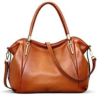 AINIMOER Womens Leather Vintage Shoulder Bag Ladies Handbags Tote Top-handle Purse Cross Body Bags