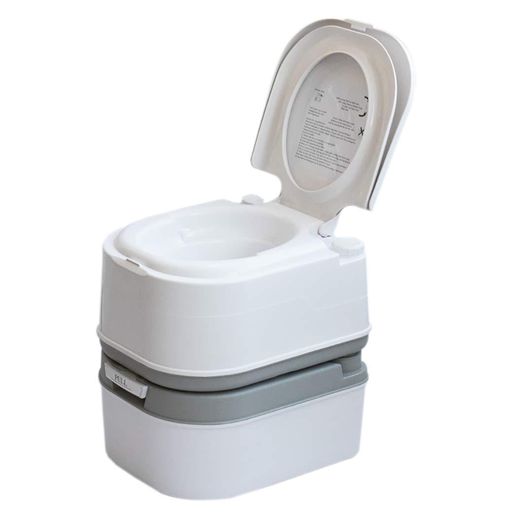 LIU UK Portable Toilet Tragbare Camping WC 5 Gallone Erholung Flush TöPfchen Kommode 24LKapazitäT Sanitation Versorgung Outdoor Indoor Caravan Stiefele Reisen Wandern