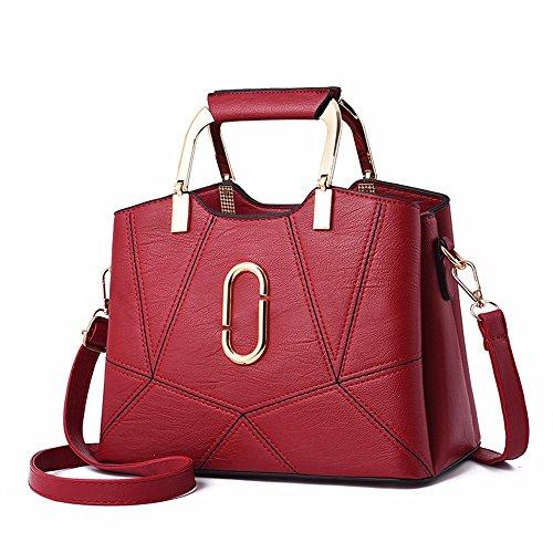 Bolsos señoras Negro Bag CCZUIML Hombro Bolsas inclinadas rojo Forman de Los Ocasionales Bolsos Las de qBwwU10