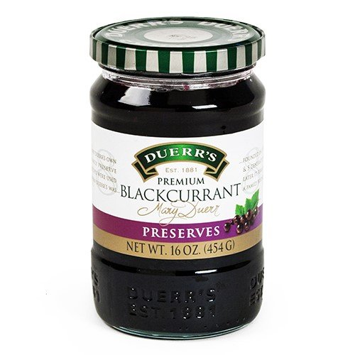 British Blackcurrant Preserves by Duerr's (16 ounce) English Clotted Cream