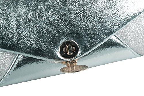 Clutch Frau Elegant MICHELLE MOON Geldbeutel Für Abend blau N852