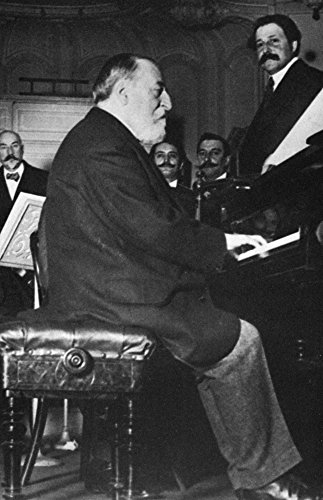 Camille Saint-Saens N(1835-1921) French Pianist Organist And Composer Saint-Saens Performing With The Conductor Pierre Monteux (1875-1964) At Right Poster Print by (18 x 24)